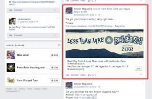 דוגמה עיצוב כרטיסים בפייסבוק