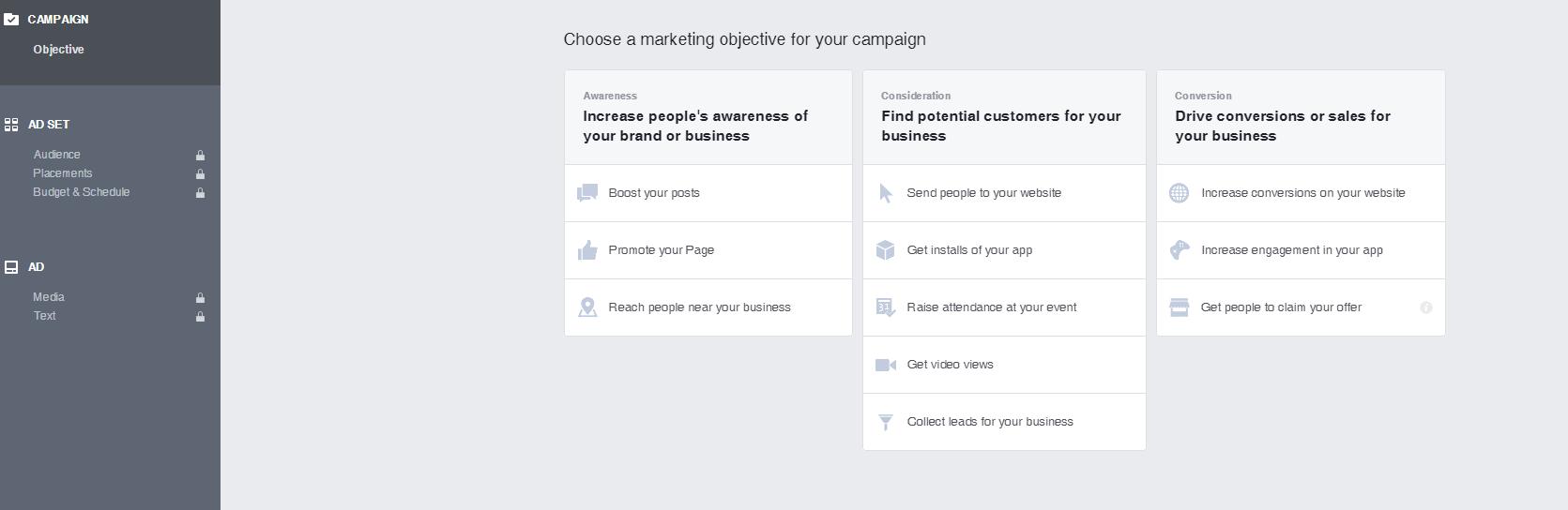 מאפייני קמפיין פייסבוק
